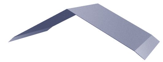 ZINCALUME® 0.55 Folded Ridge Capping